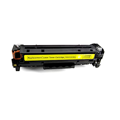 AZXZ Compatible con HP HP 125A CP1215 CP1515N CP1518NI Cartucho de tóner de Impresora láser CM1312 Yellow
