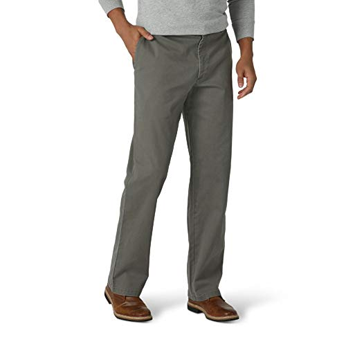 Wrangler Authentics Men's Comfort Flex Chino Pant, Sagebrush, 42W x 32L