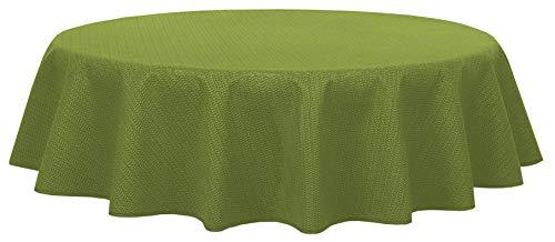 Brandsseller - Gartentischdecke geschäumt - wetterfeste und rutschfeste Tischdecke für Garten Balkon und Camping (Rund 140 cm, Grün)