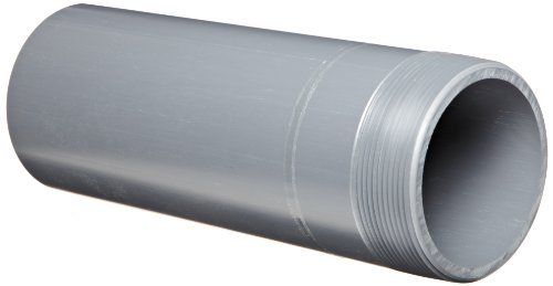 Nipple Gray Thread on One End 3 NPT Male x Socket 6 Length 3 NPT Male x Socket 6 Length Spears Manufacturing 1889-060 Schedule 80 Spears 188N Series PVC Pipe Fitting