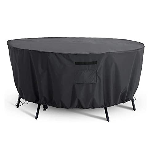 QWEASDF Cubiertas de Muebles de Patio, Cubiertas Extra Grandes para sillas de Mesa de Patio, Tapa de Fuego de Fuego, Impermeable, Polvo, Anti UV, protección de Todo Tiempo, 25 tamaños,D227*H100CM