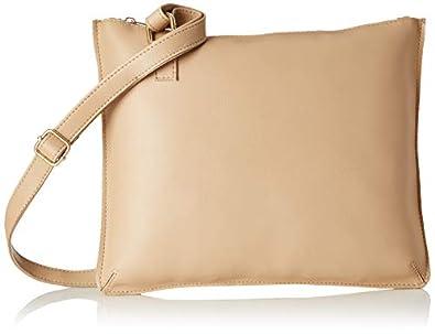 Envias Women's Leatherette Sling Bag (Cream)