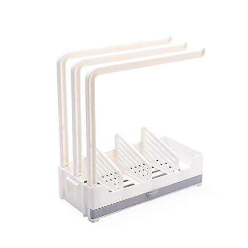 QULONG Organizador de Fregadero de Cocina con Soporte para Esponja, Rejilla para escurridor de Trapos de jabón para Esponja, jabón, Cepillo, Accesorios para lavavajillas - 24,5x23,5x11 cm