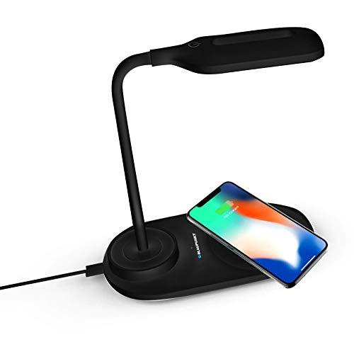Cargador inalámbrico – Cargador inalámbrico – Cargadores de undicciones para teléfonos móviles – Base Cargador – Lámpara Cargador de inducción – Cargador de inducción con LED