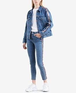 LEVI'S Womens Blue Logo Tape Denim Jacket US Size: S