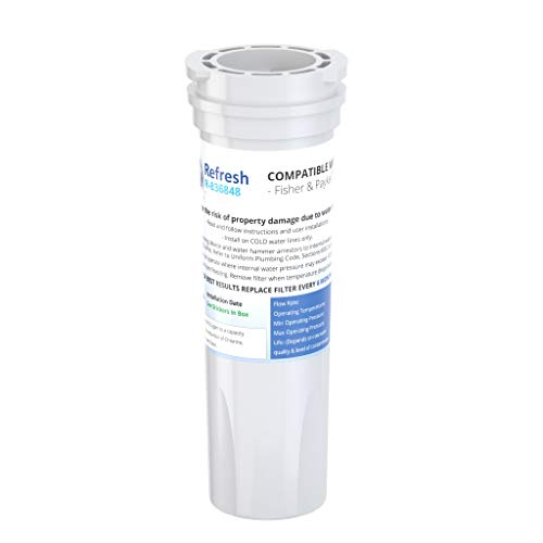 Refresh Replacement Refrigerator Water Filter for Fisher & Paykel 836848, 836860, E522B, PS2067635, RF90A180DU, EFF-6017A, E402B, E442B, SUPCO WF296 (1 Pack)