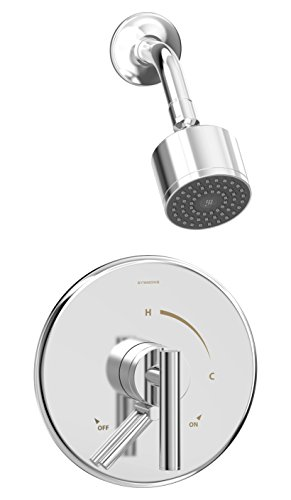 Symmons S-3501-CYL-B-1.5-TRM Dia Single Handle 1-Spray Shower Trim with Secondary Volume Control in Polished Chrome - 1.5 GPM (Valve Not Included)