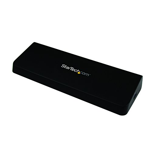 Startech.Com Docking Station Laptop Universale USB 3.0 a Doppia Uscita Video 4K Displayport / HDMI, Gbe + Porta USB a Ricarica Rapida