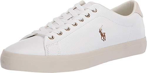 Polo Ralph Lauren Men's Longwood Sneaker, White, 9.5
