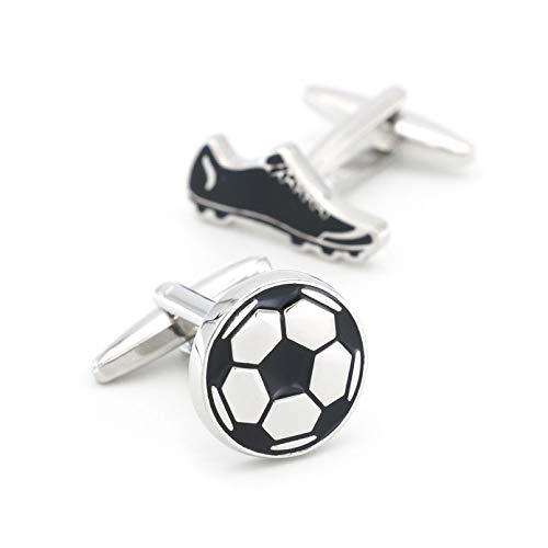 YAMAO Hemd ManschettenknöPfe,Fußball & Schuh Manschettenknöpfe Weiß Farbe Messing Material Sportschuh Design