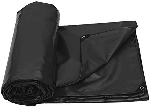 Waterproof Tarpaulin 4m × 4cm PVC Coated Cloth Tarpaulin For Sun and Rain Anti-oxidation Mildew Proof Tear Resistance Black