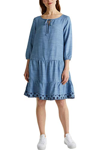 Esprit Damen 040EE1E360 Kleid, 902/BLUE MEDIUM WASH, M