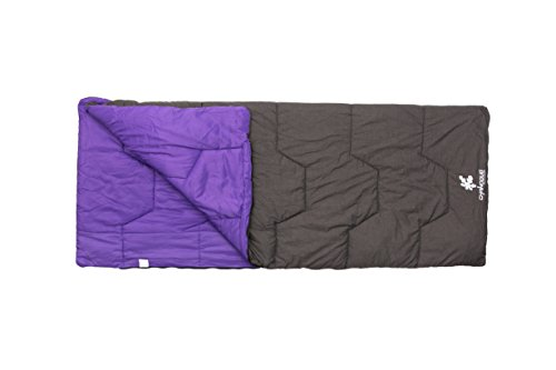 Kounga Sleeping Bag Naiguata 10 Sac de Couchage Mixte, Grey/Purple, Grand