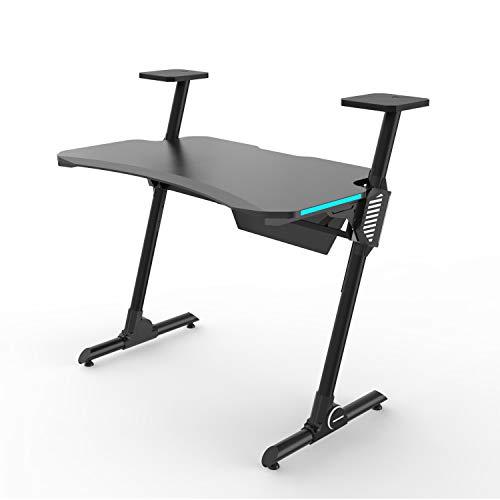 HFTEK Gaming Schreibtisch - Spieltisch - Ergonomischer Gamer Desk - Computertisch...