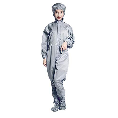 Antistatische Netheid Kleding Werkkleding Met Een Kap Overall Medisch Beschermend Pak Met Schoenen, 3 Stuks