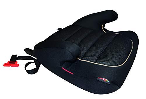 HiTS4KiDS AZKFZ065 Kindersitzerhöhung mit ISOFIX und GURTFIX, Auto-Sitzerhöhung, Kindersitz, 15-36 kg, circa 3-12 Jahre, Gruppe 2-3, ECE R44/04 geprüft, schwarz