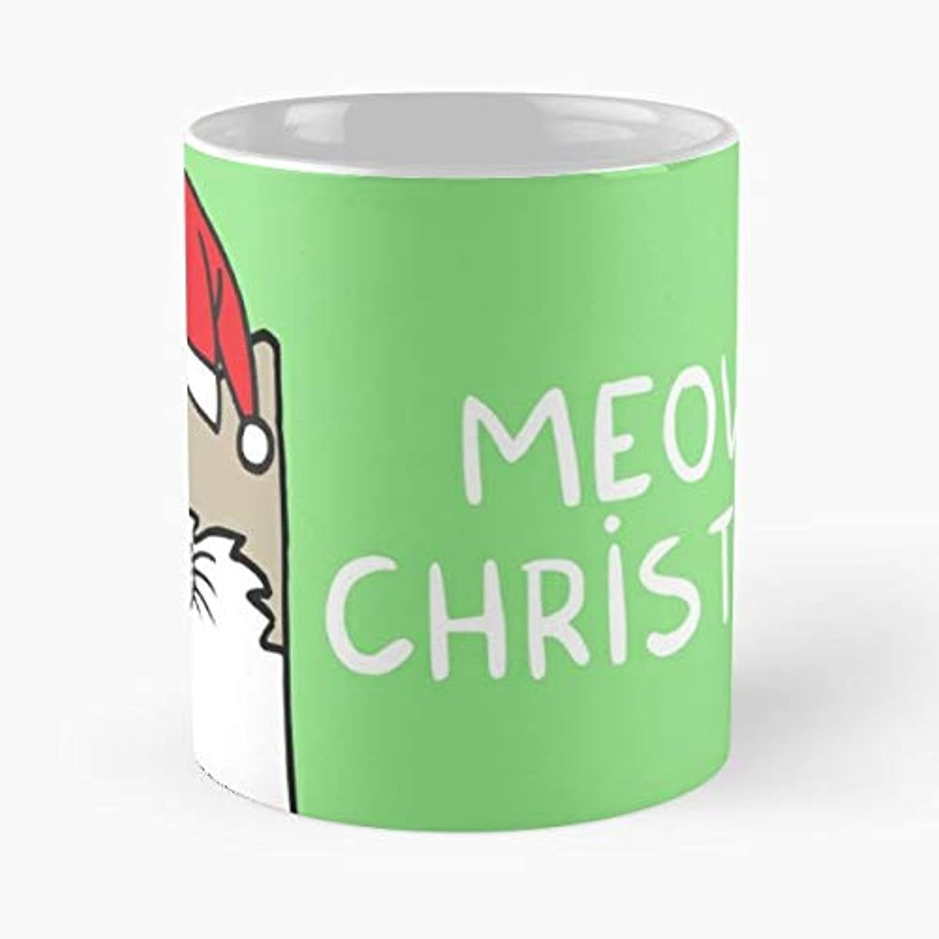 Meow Christmas Xmas Cat - 11 Oz Coffee Mugs Ceramic The Best Gift For Holidays, Item Use Daily