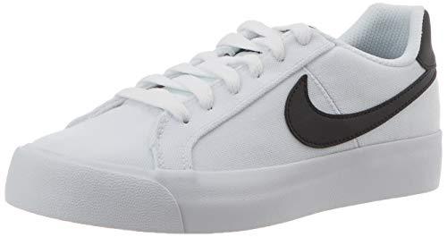 Nike Court Royale AC CNV, Zapatos de Tenis Mujer, Blanco Y Negro, 36 EU