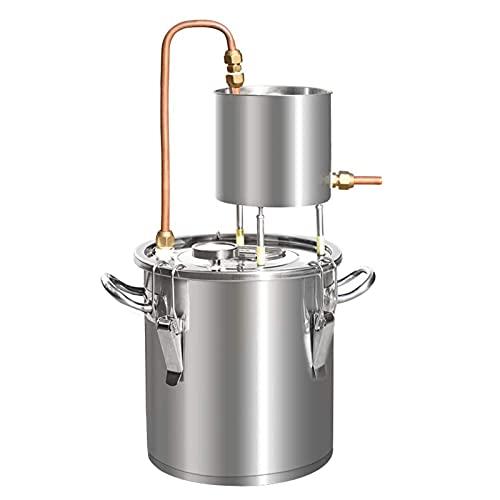 JIXIN Moonshine Still, Destilador De Alcohol, Alcohol, Caldera De Elaboración De Vino con Bomba De Termómetro
