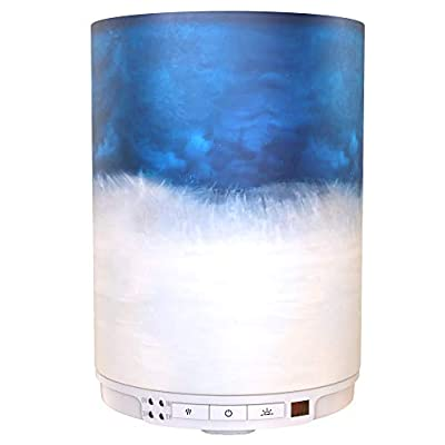 Aroma Outfitters Diffuser for Aromatherapy & Humidifier-Large Water Tank of 230ml, Remote Control-Ultrasonic Design LED Lamp Light Cover-Adjustable Mist & Run Time Settings-Auto Shut Off