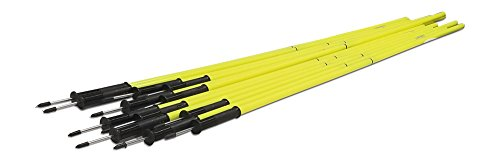 Uber Soccer Speed and Agility Poles - Yellow - 2 Piece - Flexibase
