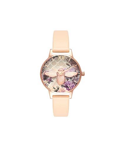 Olivia Burton Damen Analog Quarz Armbanduhr mit Lederarmband OB16EG98