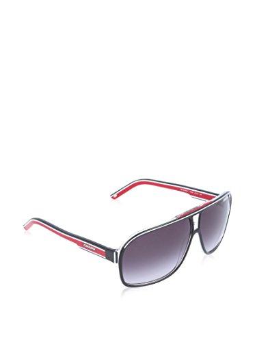 Carrera Grand Prix 2 9O T4O Gafas de sol, Negro (Bkcr Bkwhred/Dark Grey Sf), 64 Unisex Adulto