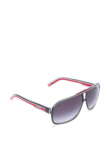 Carrera Grand Prix 2 9O T4O Gafas de sol, Negro (Bkcr Bkwhred/Dark Grey Sf), 64 Unisex Adulto