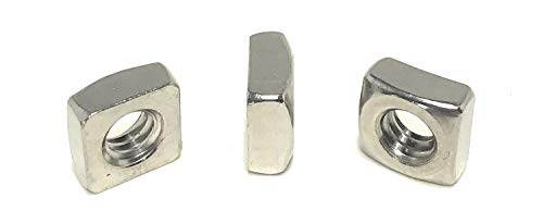 1/4-20 Stainless Steel Square Nuts 18-8 (25 Pcs)