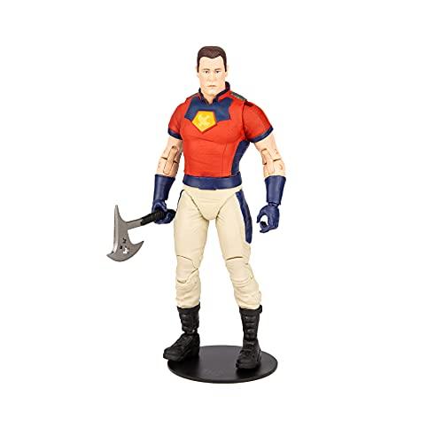 McFarlane Toys 15448-1 DC Build-A - Figuras WV5-Suicide Squad Movie-Peace Maker (Unmasked), Multicolor
