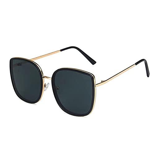 MIAOYO Clásico Oval Señoras Moda Marco Redondo Gafas De Sol,Mujer Vintage Plástico Océano Gafas De Sol Bordeada Gafas,B