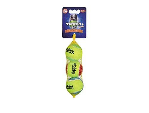 Nobby Tennisball mit Squeaker sortiert S 5,0 cm; 3er Netz