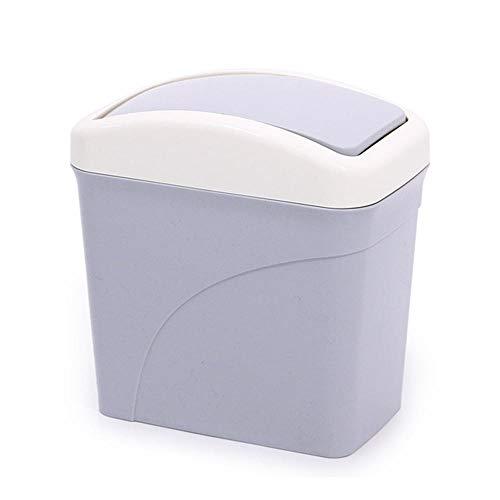 Sinzong Afvalemmer, 1 stuks, kleine afvalemmer, kleine afvalemmer, bureauvuil, kleine vuilnisemmer voor bureau, auto, vuilnisbak