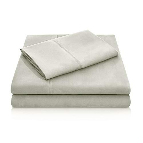 MALOUF Double Brushed Microfiber Super Soft Luxury Bed Sheet Set - Wrinkle Resistant - King Size - Sand
