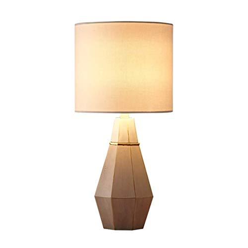 AERVEAL Lámparas de Mesa Y Mesas Nórdico Pequeña Lámpara de Mesa Simple Dormitorio Moderno Lámpara de Noche Creativa Europea Regulable Cálido Luz E27 Lámpara de Mesa Lámpara Led