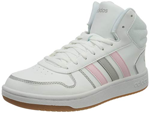 adidas Hoops 2.0 Mid, Zapatillas de bsquetbol Mujer, FTWR White Clear Pink Grey Two, 40 EU