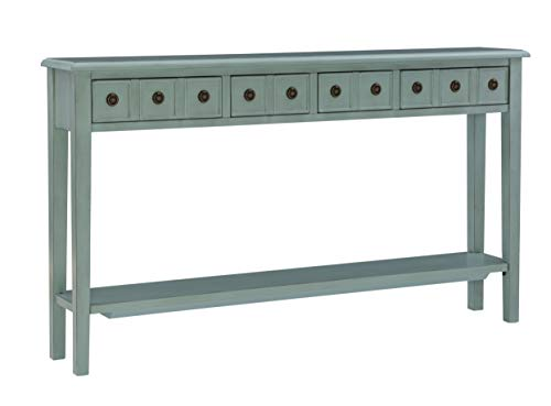 Powell Furniture Sadie Long Console Table, Teal