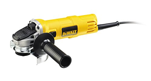 Dewalt DWE4057-QS DWE4057-QS-Mini-amoladora 125mm 800W 11.800 RPM Suave + Bloqueo y re-Arranque, 800 W, 230 V, Amarillo/Negro