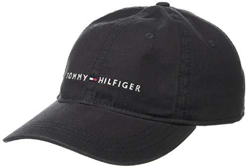 Tommy Hilfiger Men's Logo Dad Baseball Cap, Charcoal, One Size