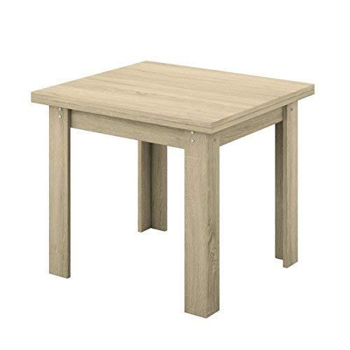 Mobelcenter Logan Table carrée rustique extensible 90 x 90 – 180 cm