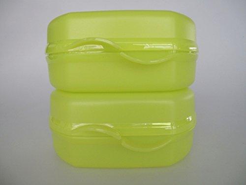 TUPPERWARE To Go Snacky limette (2) Vesperbox Brotbox Brot Vesper Dose Box 30919