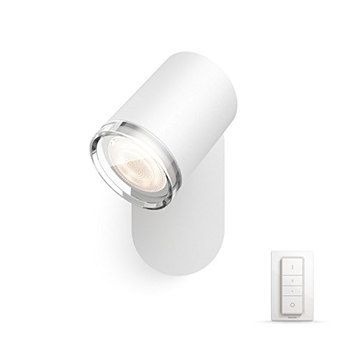 Philips Hue Adore LED 1-er Spot, inkl. Dimmschalter, dimmbar, alle Weißschattierungen, steuerbar via App, kompatibel mit Amazon Alexa (Echo, Echo Dot), weiß