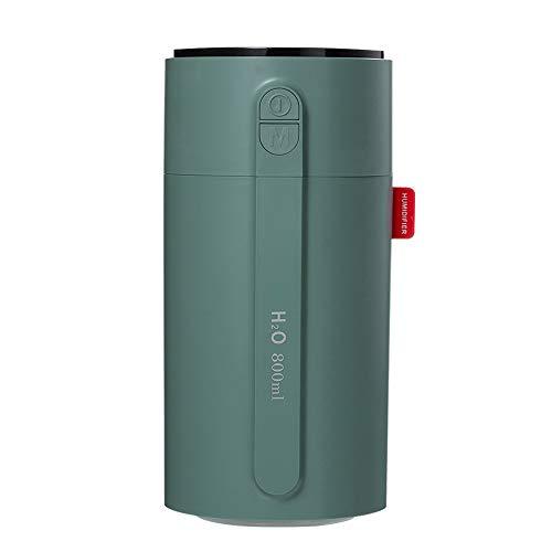 BAGZY Inteligente 800 ml Humidificador de Niebla Portátil con Pantalla LED, 2 Boquillas,Función de luz nocturna, detección inteligente de gestos, con Apagado Automático para Dormitorio Coche Oficina