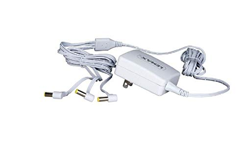 Lemax 94563 Switching Mode 3-Output Power Adapter, New 2019 Fixed US Plug V.2, White, 4.5V, 1000mA, Input 100-240V, Use For X'mas Miniature Lighted Building Decorations & Accessories