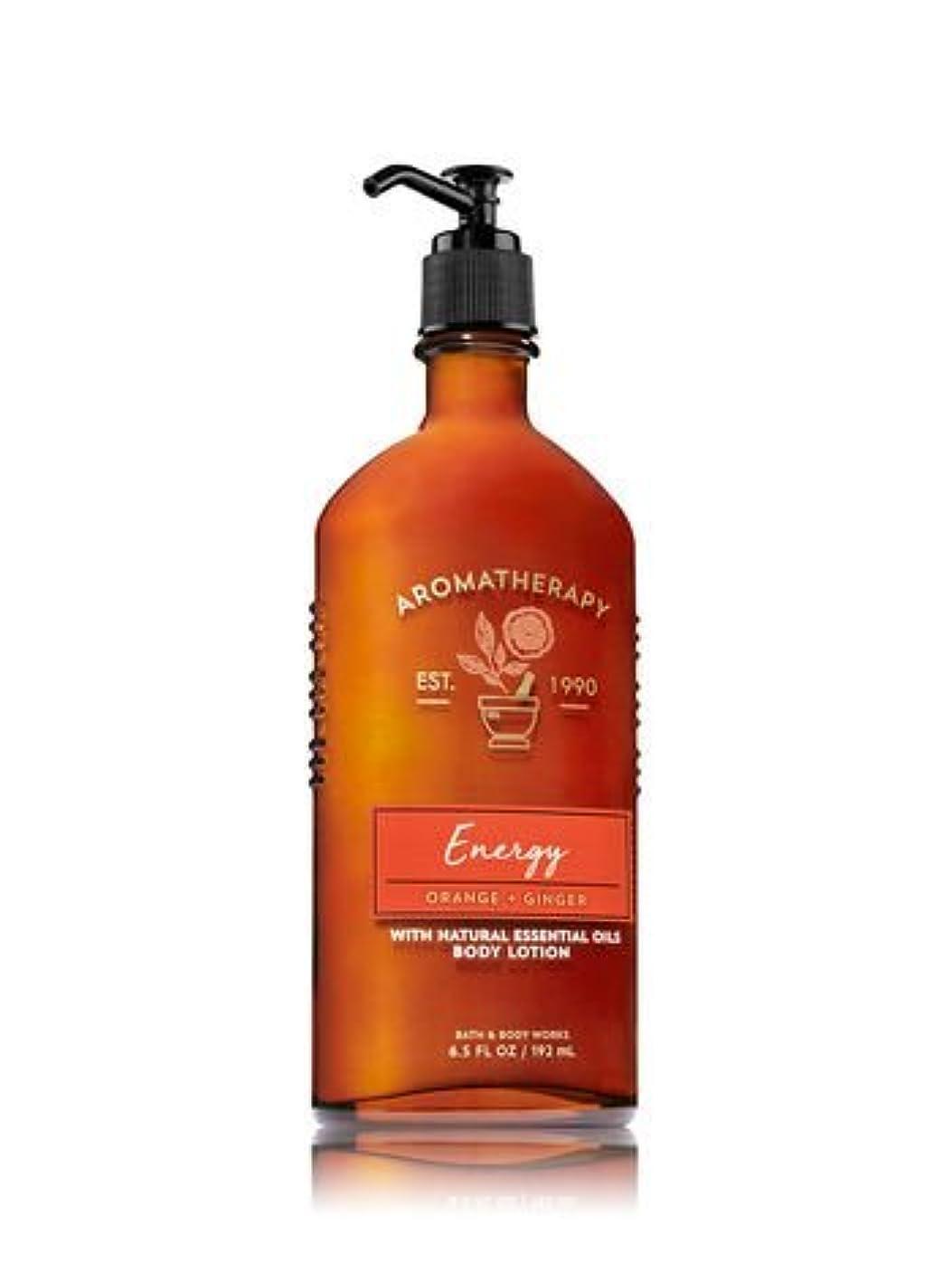 祈り頻繁にオン【Bath&Body Works/バス&ボディワークス】 ボディローション アロマセラピー エナジー オレンジジンジャー Body Lotion Aromatherapy Energy Orange Ginger 6.5 fl oz / 192 mL [並行輸入品]