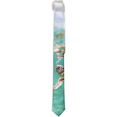Corbata formal Novedad Disfraz Accesorio Tortuga Bebé bajo el mar Océano Corbata turquesa Cena Noche Fiesta Fiesta Corbatas de boda para hombres
