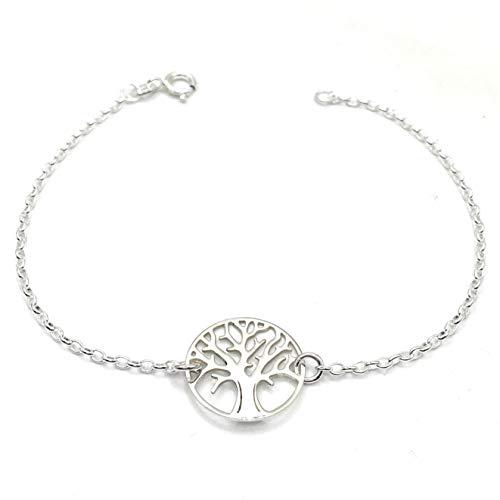 925 plata árbol del vida cadenas remolque Árbol de la vida zirkona corazones remolque