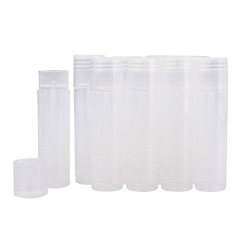 VABNEER 25Pcs Contenitore Vuoto Lip Balm Trasparente Tubi Vuoto Labbro Balsamo Tubo Contenitore DIY Vuoto di plastica Riutilizzabile Lip Balm Tubi Vuoti Lip Gloss Balsamo