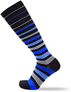 BEESCLOVER Elastic Sport Socks Knee-high Support Running Marathon Socks Breathable Road Bicycle Socks Outdoor Sports Racing Cycling Socks