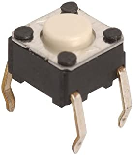 Omron B3F-1000 Tactile Switch, Normally Open Off Momentary Single Pole Single Throw, Flat Plunger PC Pin, 0.05 Amp, 24V, 0.24
